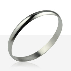 Bracelet  1/2 JONC ARGENT MASSIF 8MM / 2MM