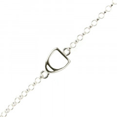 Bracelet Argent Rolo 3 motifs Etrier MM