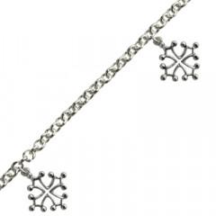 Bracelet Argent FR60 3 Pamp CROIX OCCIT PM