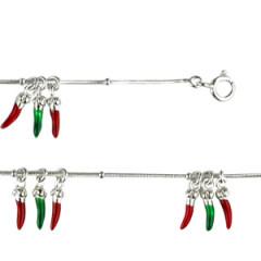 Bracelet Argent QDR Ble/4x3 PIMENTS LAQUE 3 PAMP