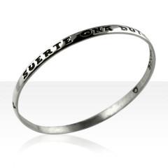 Bracelet Argent JONC MODERNE PM/JE PORTE CHANCE