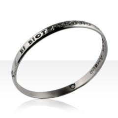 Bracelet Argent JONC MODERNE MM/2 COEURS 1 AMOUR