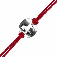 """Bracelet Argent """"JEREZ"""" Cheval Coton D2"""