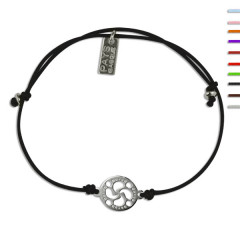 Bracelet Argent NILA LASA Croix basque ajustable