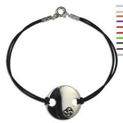 Bracelet Argent NILA Plaque ronde Croix basque