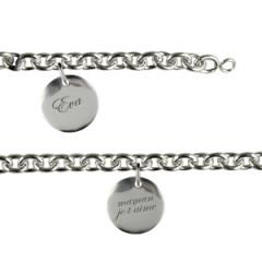 Bracelet Argent 3 Médailles 15MM à graver