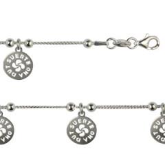 Bracelet Argent LASA 5 SUERTE GM pampilles