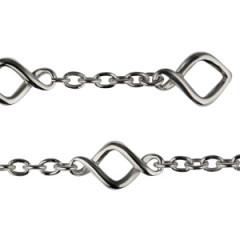 Bracelet Argent TWIST chaine Fermoir barrette