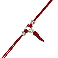 Bracelet Argent NILA PIMENT-rouge