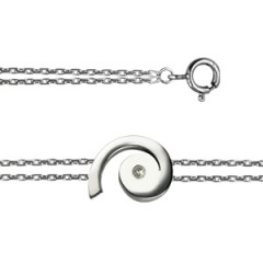 "Bracelet ""ECLAT"" Argent  Diamant Spirale"