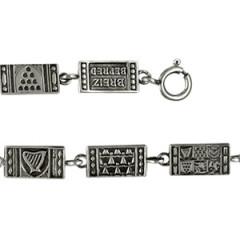 Bracelet Argent 6 PAYS CELTES/PLAQUETTES