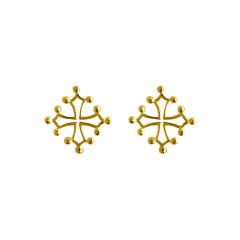 Boucles d'oreilles Plaqué Or OP CROIX OCCIT MM