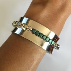 Bracelet Argent MASSAÏ JONC 20 MM