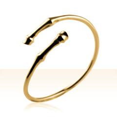 Bracelet Plaqué Or JONC SABOTS CROISES
