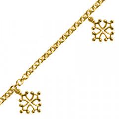 Bracelet Plaqué Or FR60 3 Pamp CROIX OCCIT MM