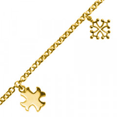 Bracelet Plaqué Or FR60 3 Pamp 2 OCCI/1 CATHARE