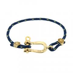 Bracelet Paqué Or Manille CAP COZ - bleu