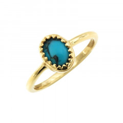 Bague Plaqué Or KHEOPS Turquoise PM