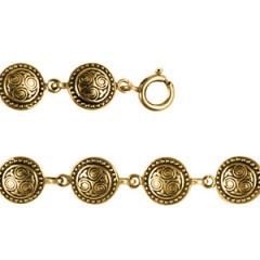 Bracelet Plaqué Or TRISKELL ROND PERLE PM